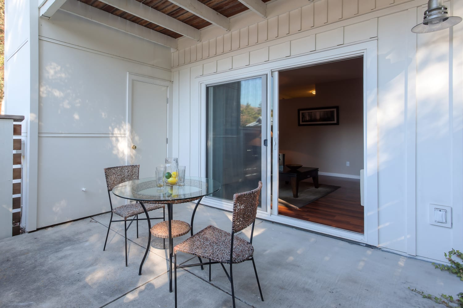 Cotton Wood Apartments in Dublin, California, offer the luxury of a private patio