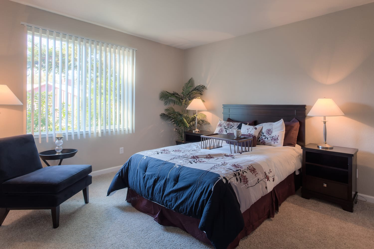 Cotton Wood Apartments in Dublin, California, offer spacious bedrooms