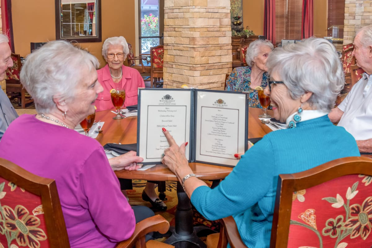 Choose from many dining options at Watercrest at Shadow Creek Ranch in Pearland, Texas