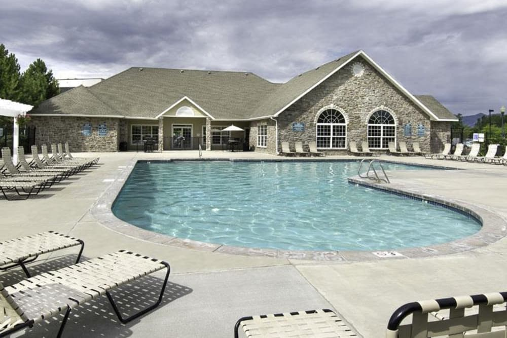 Exterior pool at Fairstone at Riverview Apartments in Taylorsville, Utah