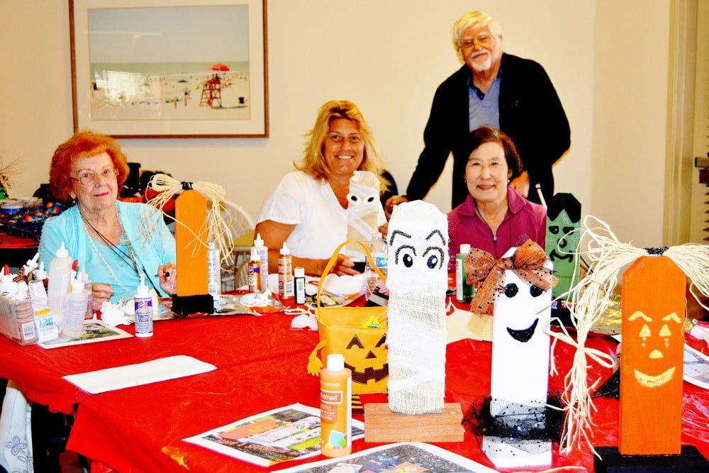 Residents and Family Enjoying Halloween at Merrill Gardens at Santa Maria in Santa Maria, California