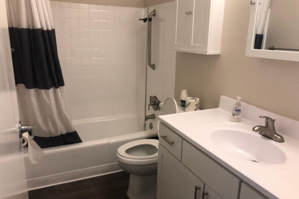 Model bathroom at Park Terrace in Arvada, Colorado