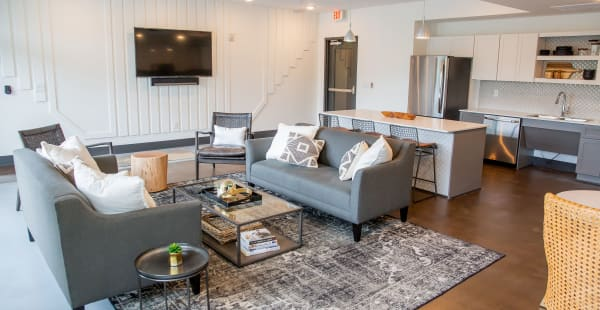 Community lounge at Belcourt Park in Nashville, Tennessee