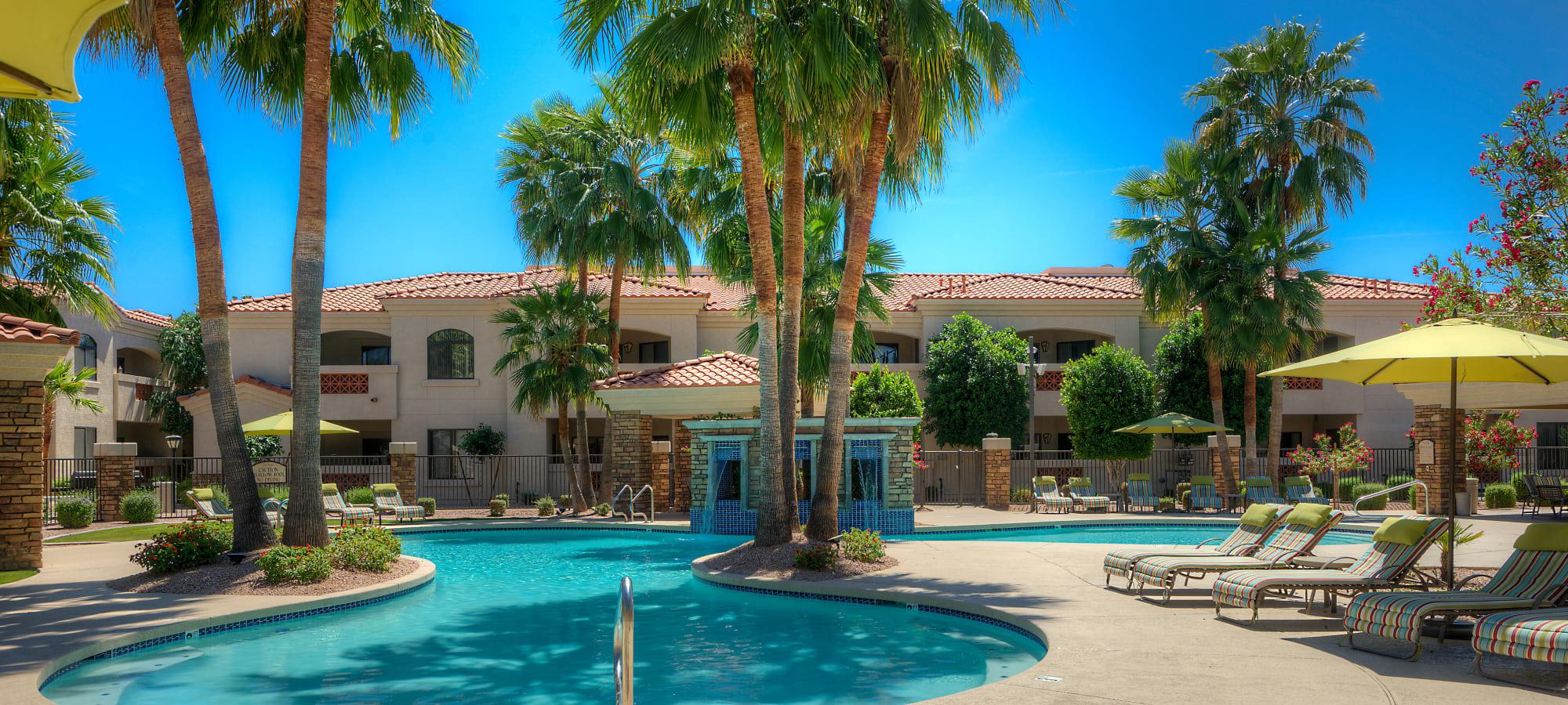 Swimming pool and sundeck at San Prado in Glendale, Arizona