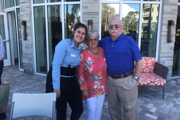 Residents having fun at All Seasons Naples' party in Naples, Florida