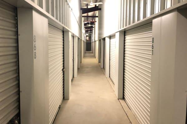Well-lit interior units available at Five Star Storage in Fargo, North Dakota