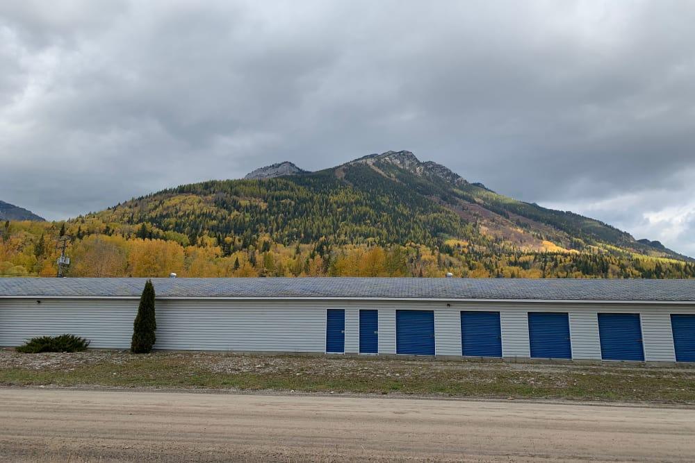 Exterior view of CityBox Storage in Fernie, British Columbia