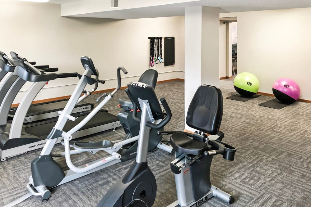 Fitness center at Regency Heights in Iowa City, Iowa