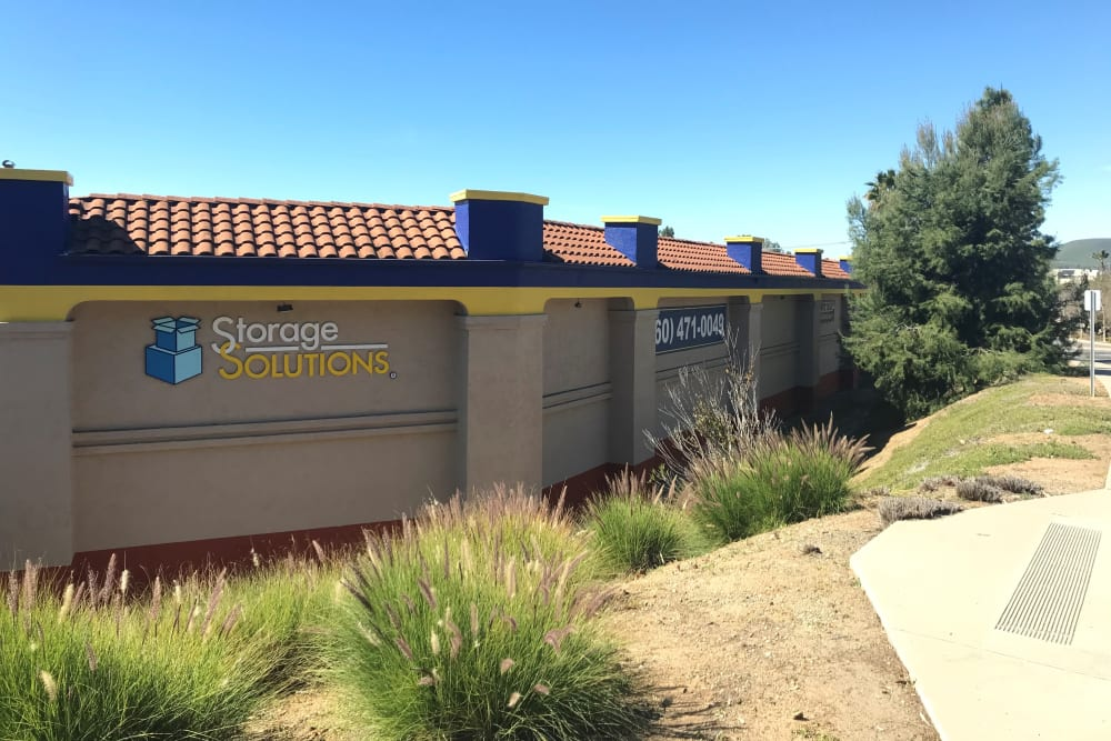 Corner view of Storage Solutions in San Marcos, California