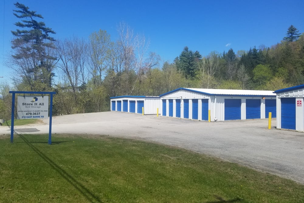 A few outdoor storage units at Store It All Self Storage - Barre in Barre, Vermont