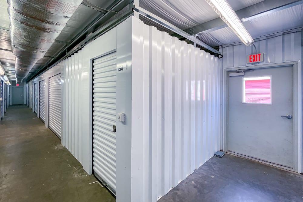 Indoor, climate-controlled storage units at  SecurityPlus Self Storage in Virginia Beach, Virginia
