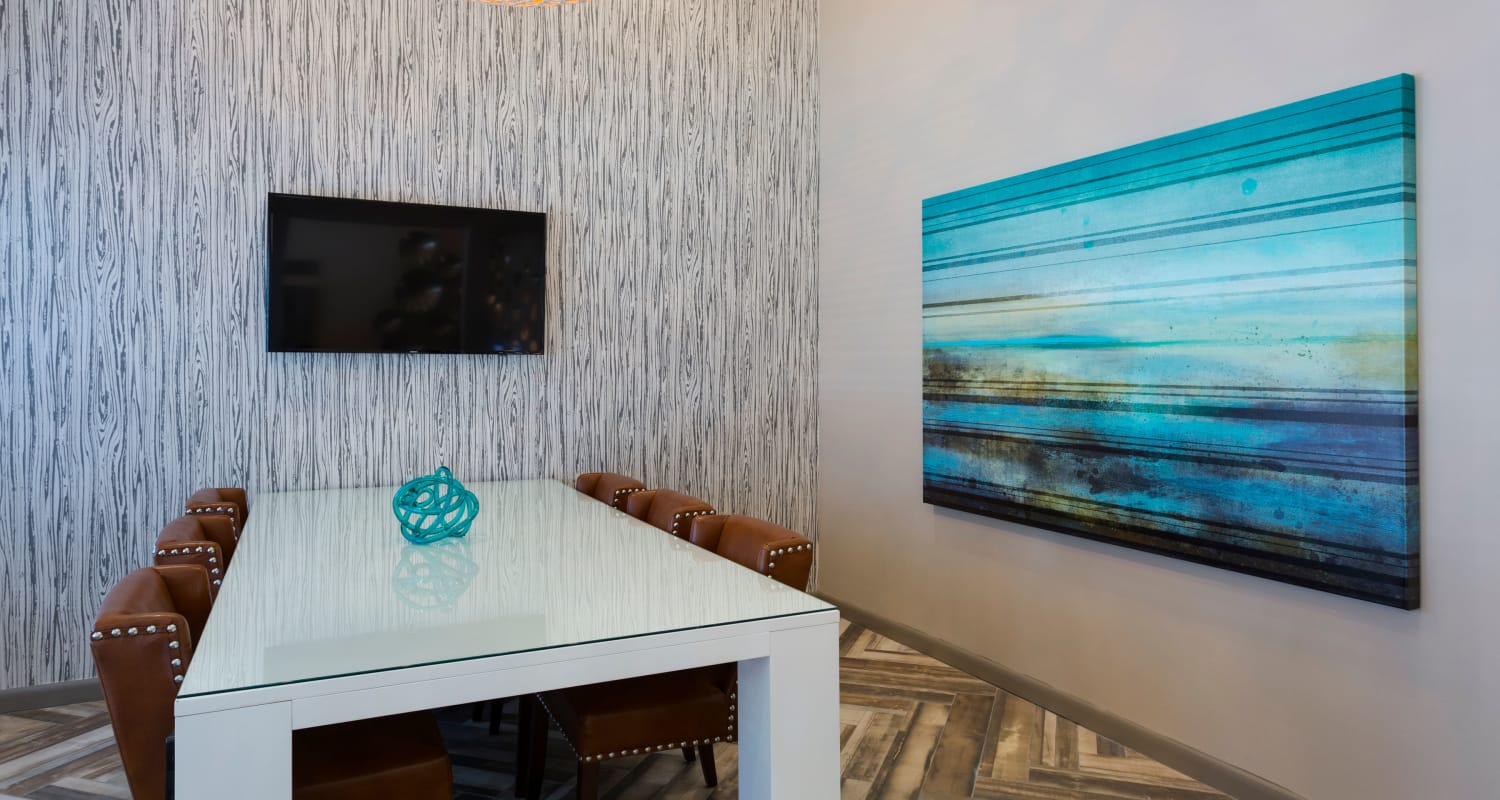 Business meeting room for resident use at Siena Apartments in Plantation, Florida