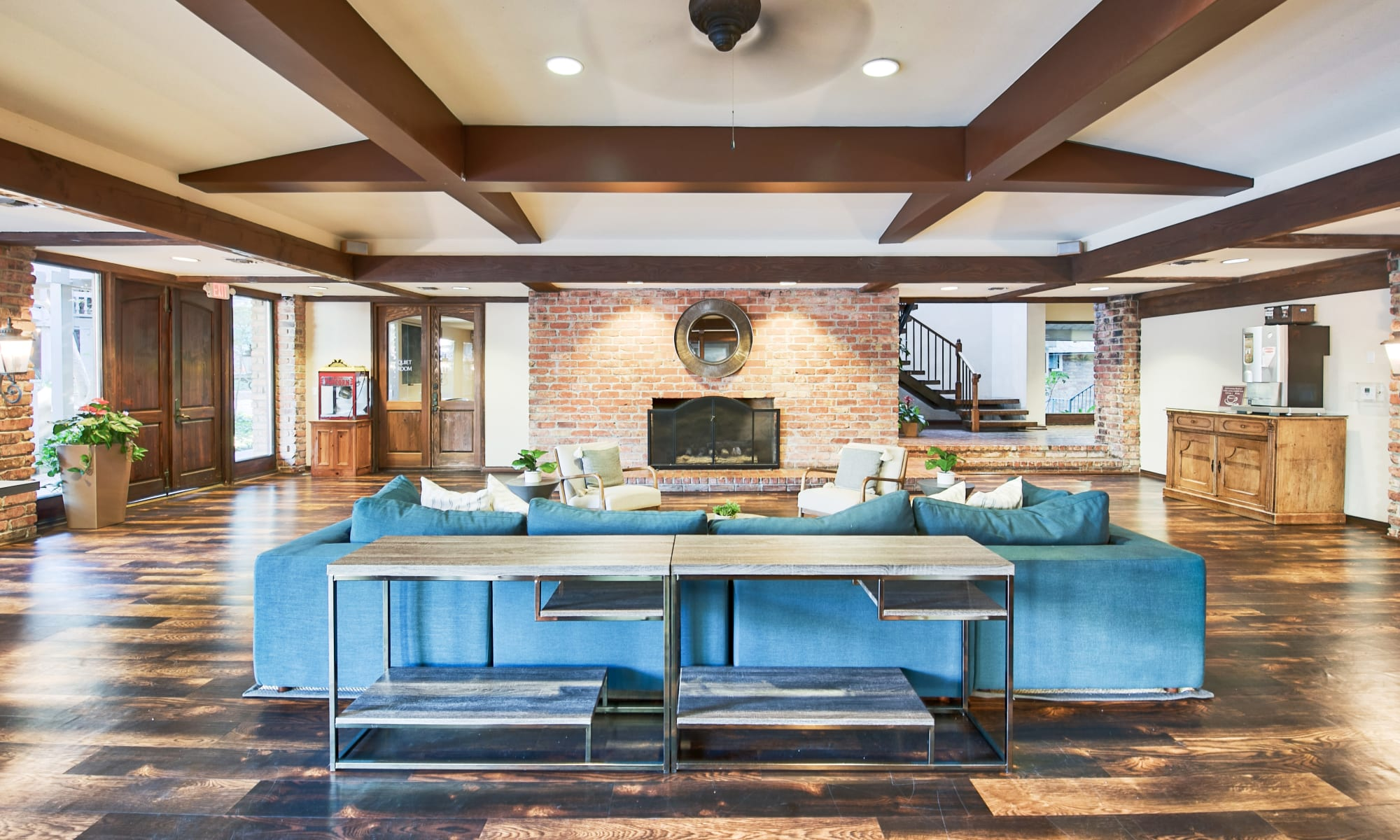 Large and spacious clubhouse at The Meadows in Culver City, California