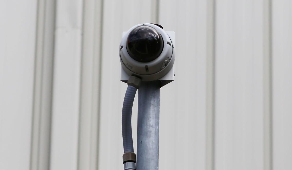 Security camera at Midgard Self Storage in Key West, Florida