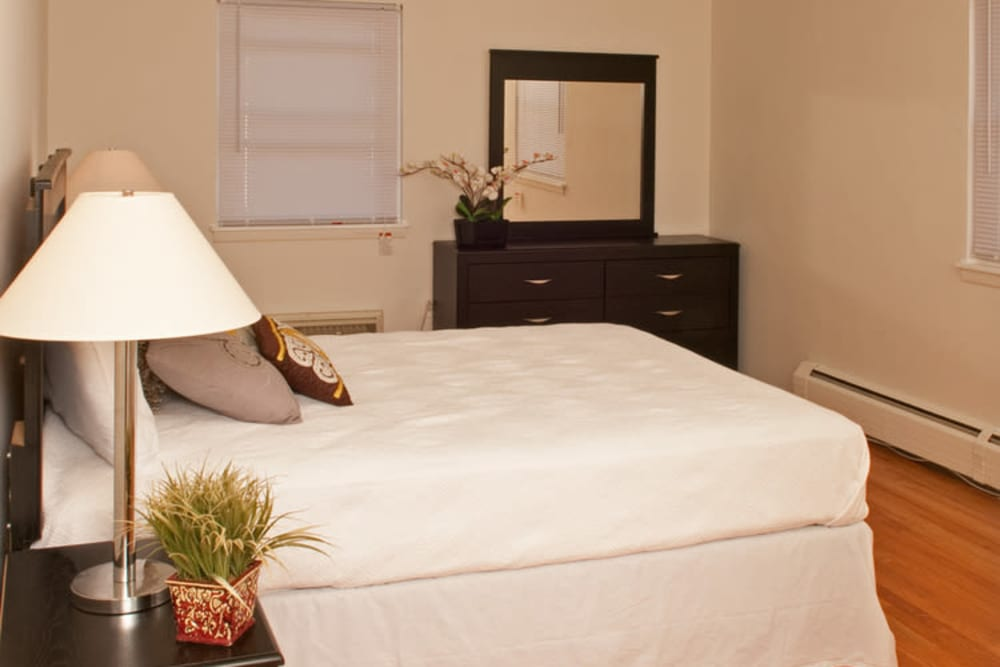 Bedroom at Lafayette Park Apartments in Hawthorne, New Jersey