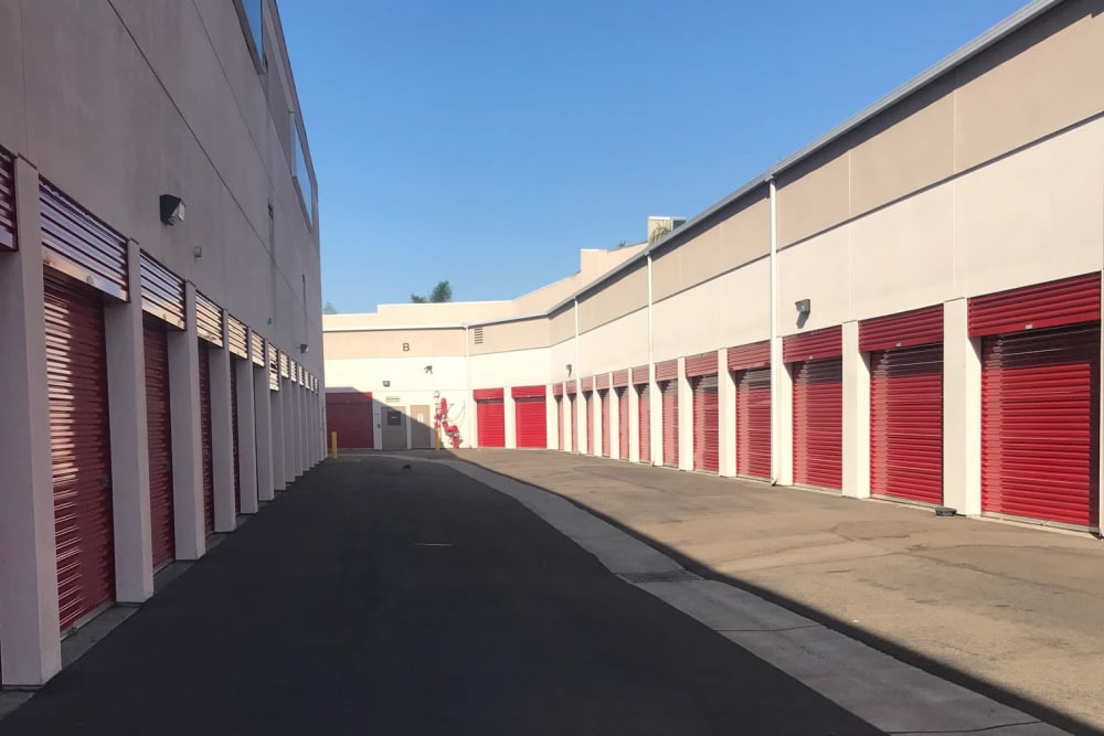 Exterior units at StorQuest Self Storage in Carlsbad, CA