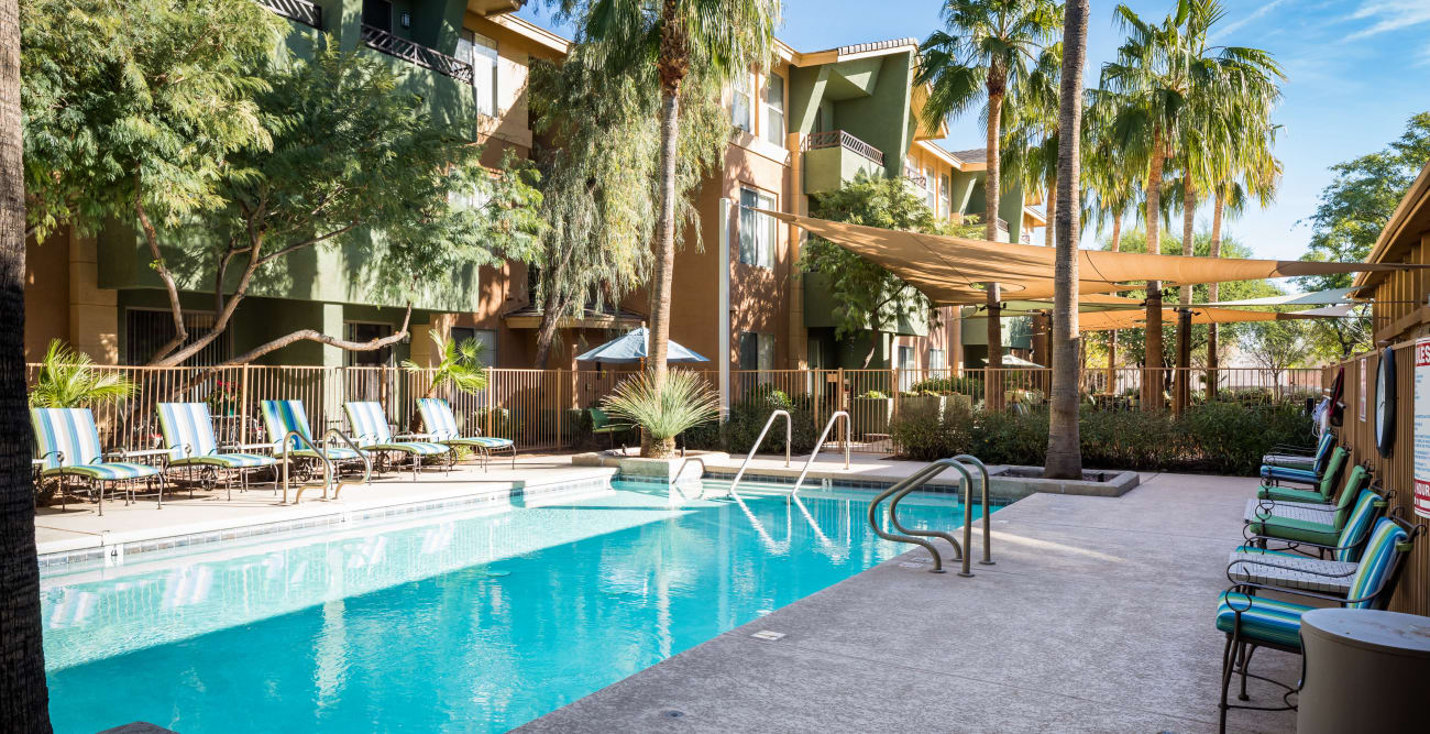 Swimming pool at McDowell Village in Scottsdale, Arizona