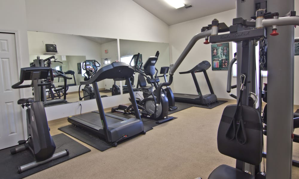 Fitness center at Steeplechase Apartments & Townhomes