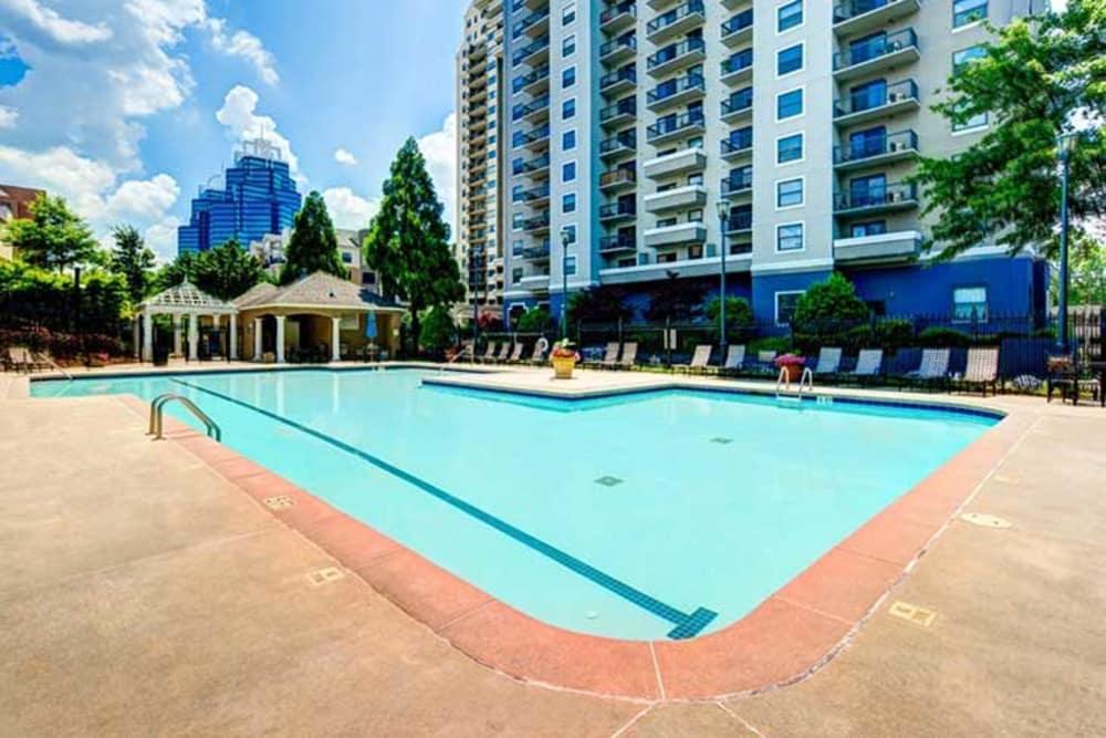 The swimming pool at The Eva