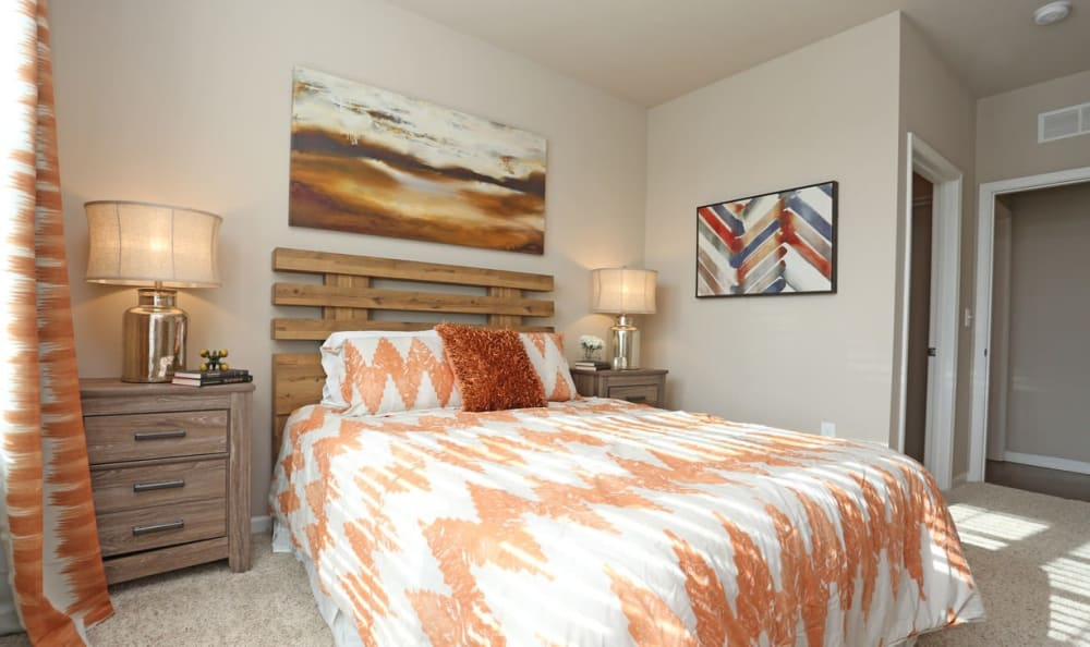 master bedroom at Springs at Hurstbourne in Louisville, KY