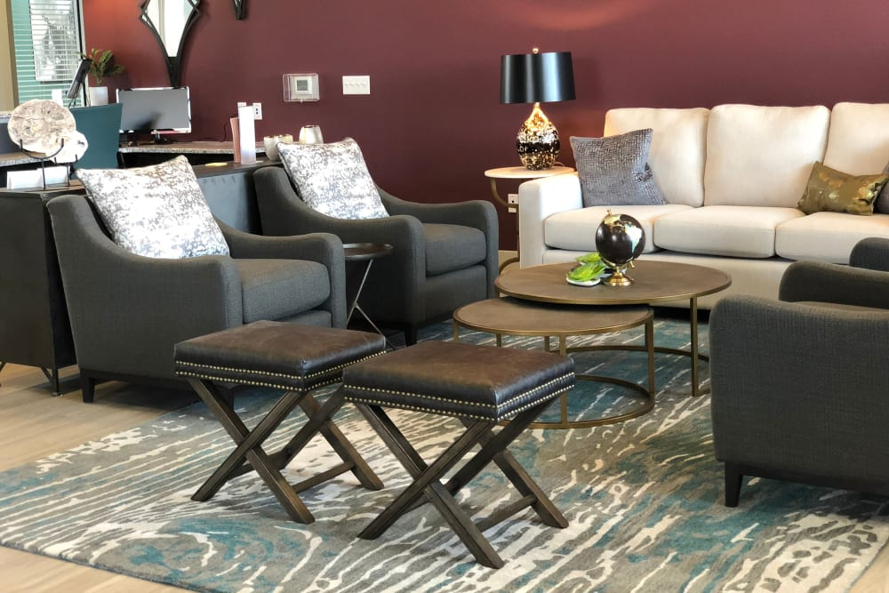 Living room at Springs at Sun Prairie