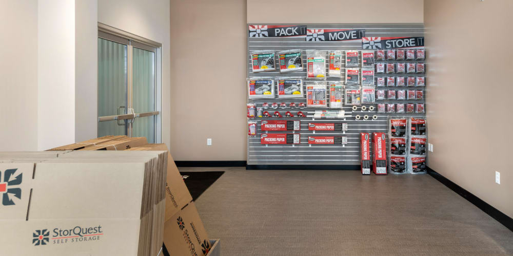 Packing supplies sold at StorQuest Self Storage in Escondido, California