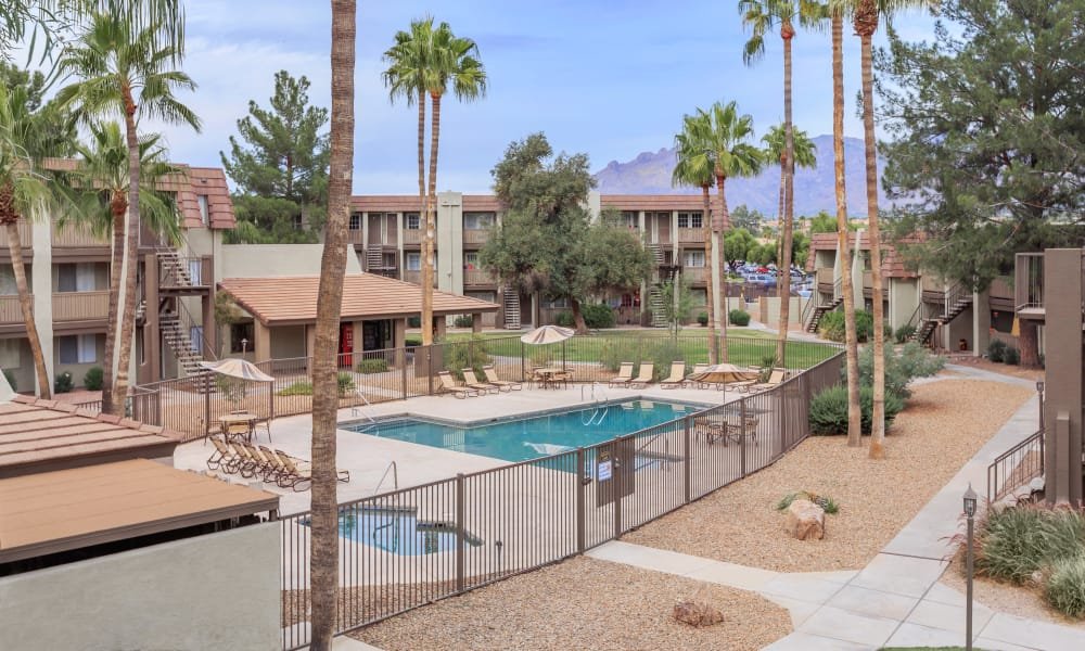 Beautiful view of our apartments at Verde Apartments in Tucson, Arizona