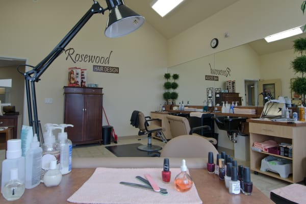 A hair salon at Rosewood Estates in Cobourg, Ontario