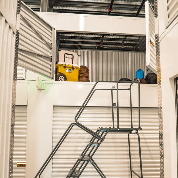 Locker storage units of varying sizes at StorQuest Self Storage in Jersey City, New Jersey