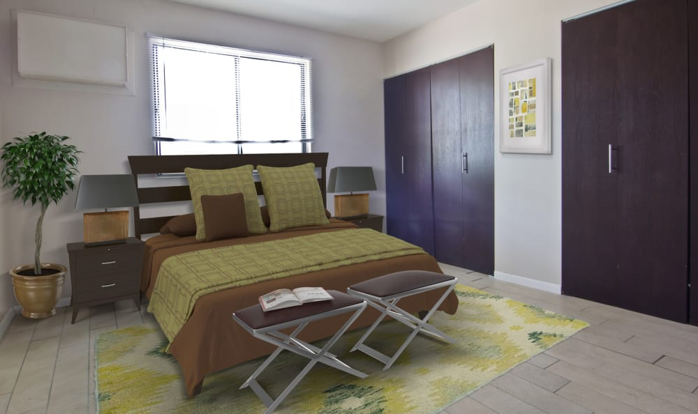 Bedroom at The Flats at Gladstone in Glendale Heights
