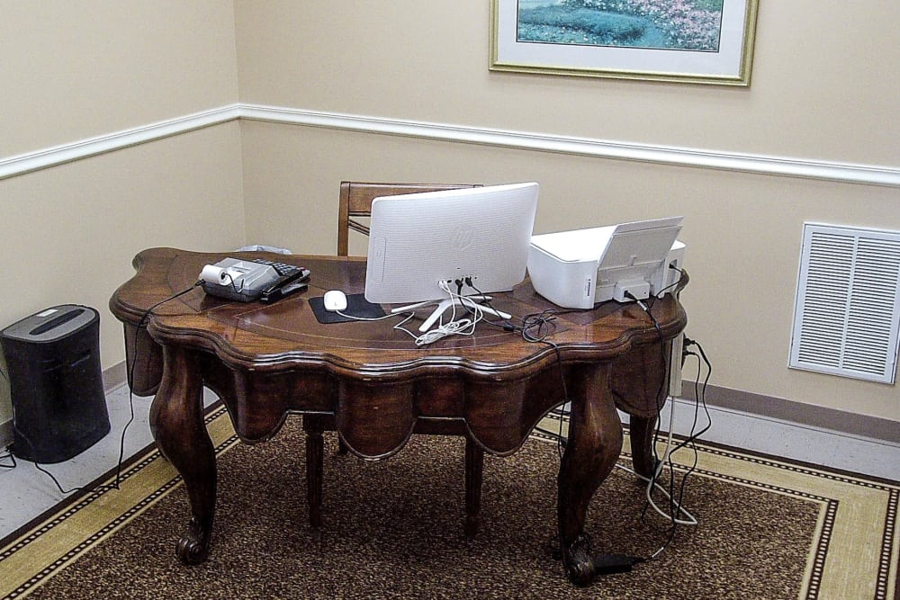 Desk inside of office at America's Mini-Storage and Office Complex in Port St. Joe, Florida