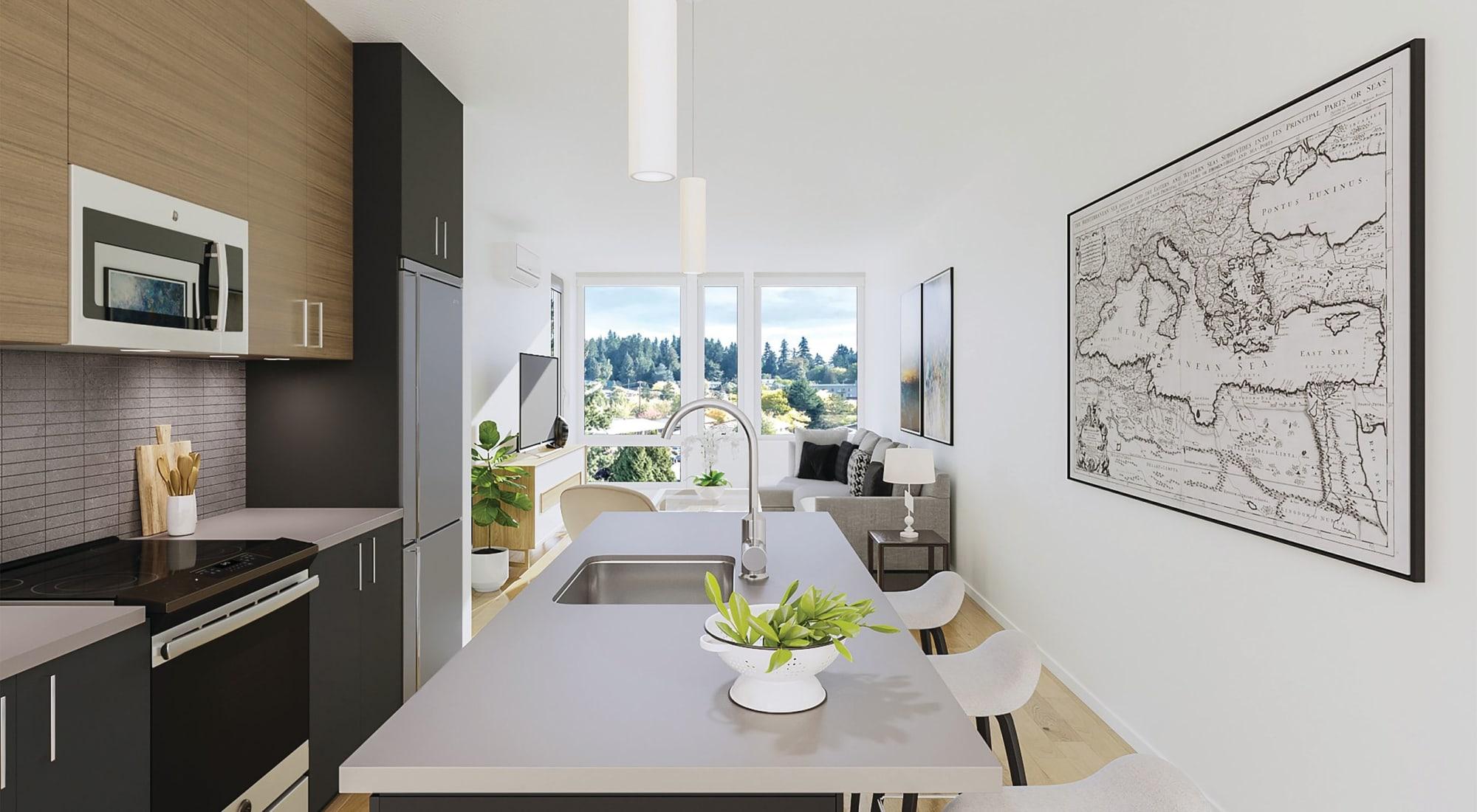 Kitchen at Blackbird in Redmond, WA