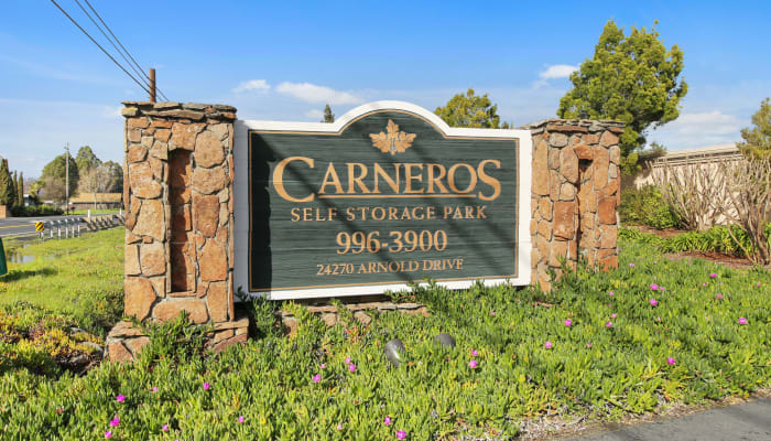 Carneros Self Storage Park in Sonoma, California