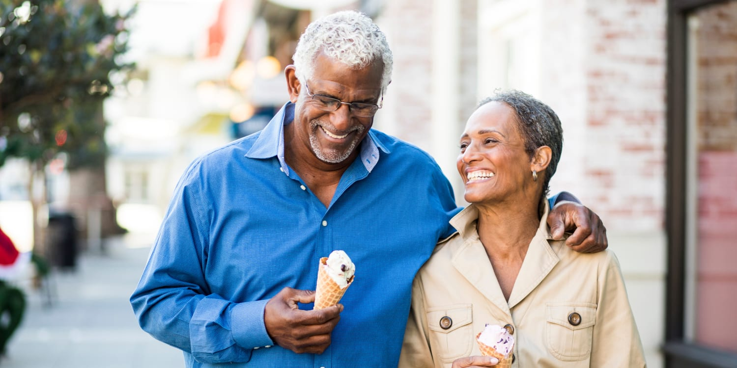 A resident couple out for ice cream near Town Court in West Bloomfield, Michigan