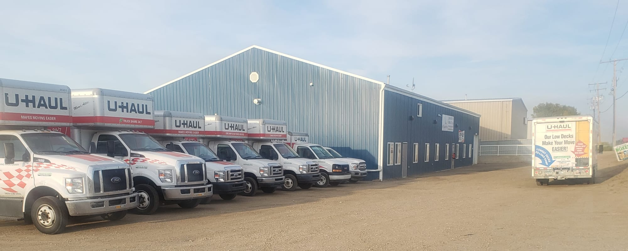 Self storage in Moose Jaw SK with Uhaul trucks and state of the art security