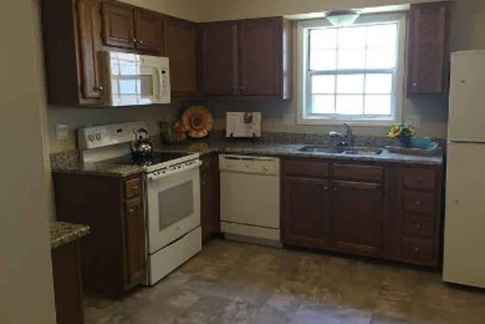 Kitchen at Pacifica Senior Living Heritage Hills in Hendersonville, NC