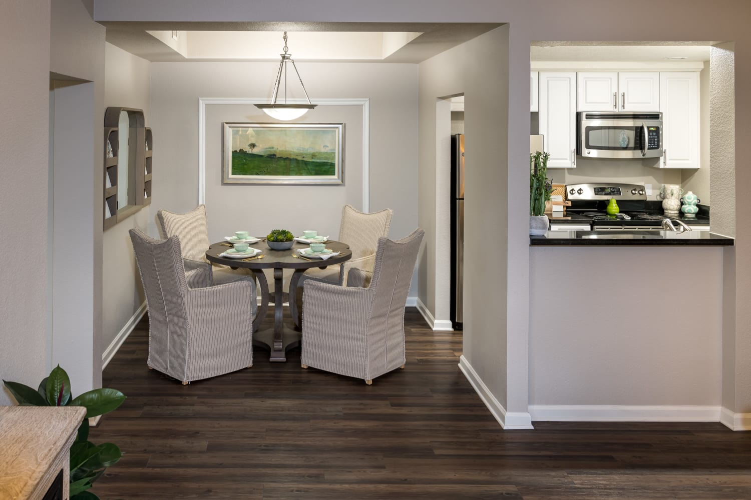 Dining room at Nantucket Apartments in Santa Clara, California