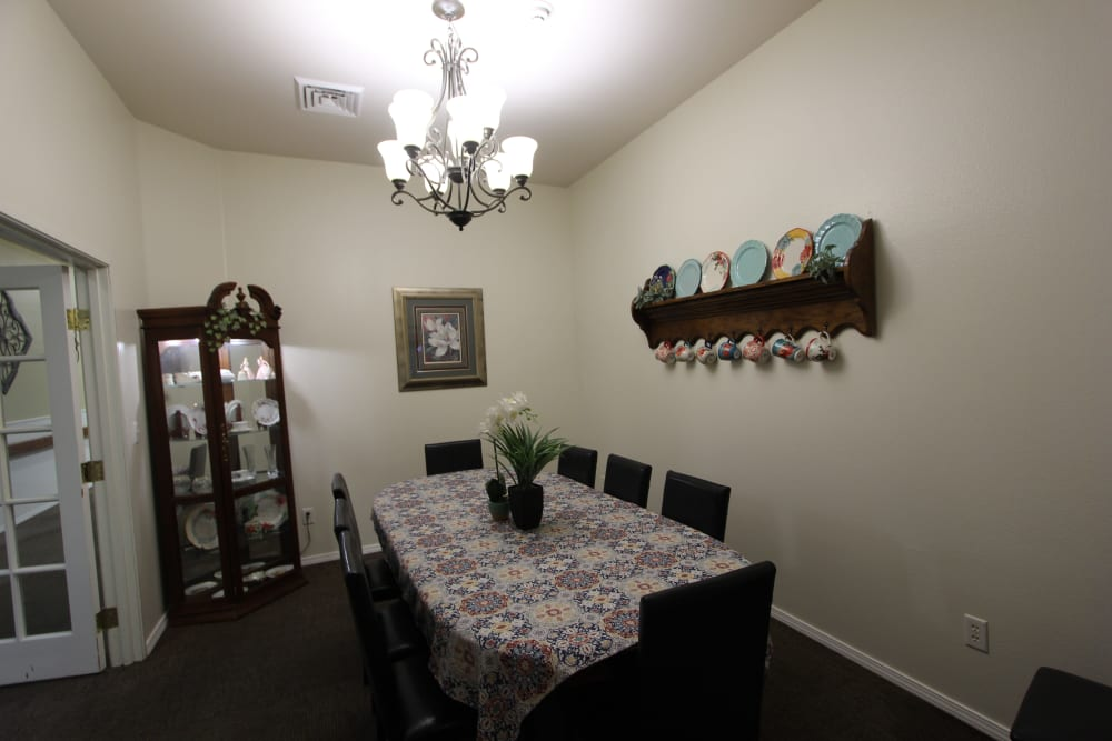 Private dining room at The Willows Retirement & Assisted Living in Blackfoot, Idaho