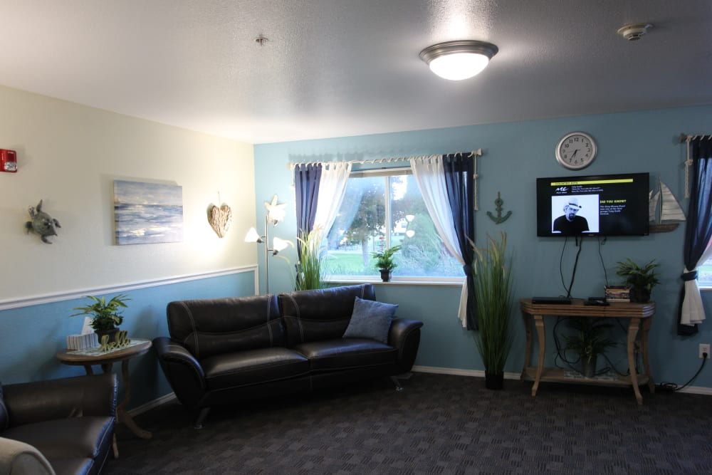 Memory support seating area at The Willows Retirement & Assisted Living in Blackfoot, Idaho