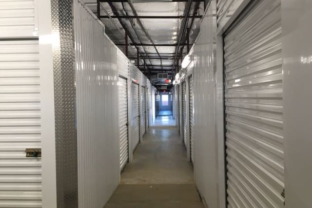 Interior storage units at Advantage Storage -  Justin Road in Flower Mound, Texas