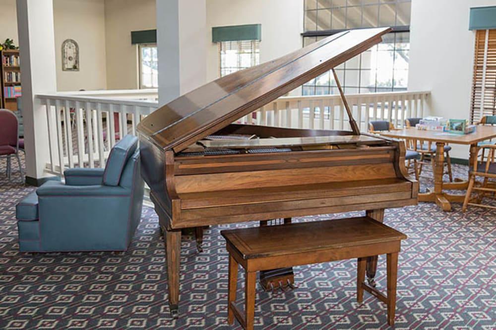 Grand piano at Del Obispo Terrace Senior Living