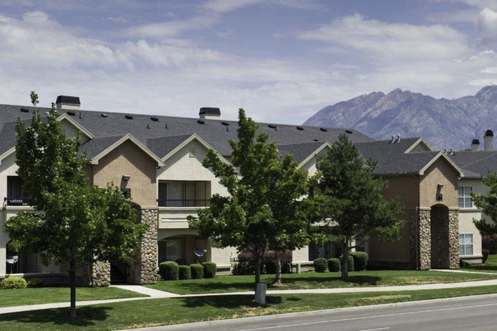 View of exterior at Alpine Meadows Apartments in Sandy, Utah