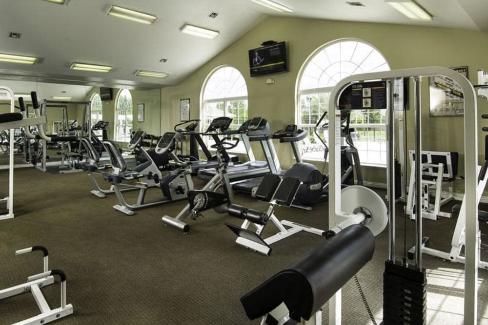 Fitness center at Fairstone at Riverview Apartments in Taylorsville, Utah