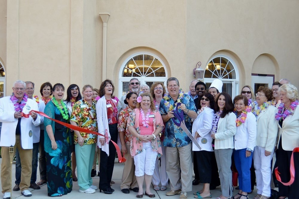 Staff at the Ribbon Cutting at Merrill Gardens at Santa Maria in Santa Maria, California