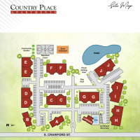 Site map of Country Place in Mount Pleasant, Michigan