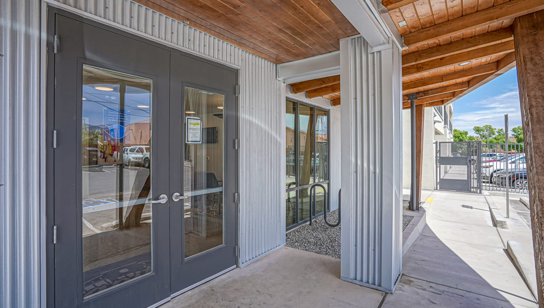 Entrance to Capitol Flats in Santa Fe, New Mexico