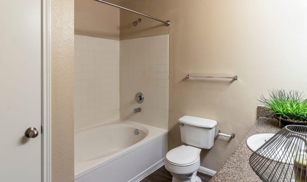 Spacious master bathroom at Kenwood Club at the Park in Katy, TX