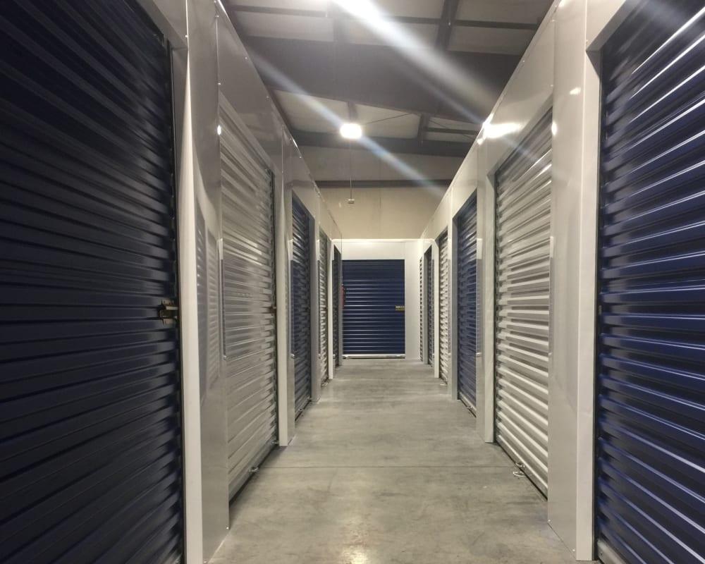 Indoor storage units at Carolina Secure Storage in Henderson, North Carolina