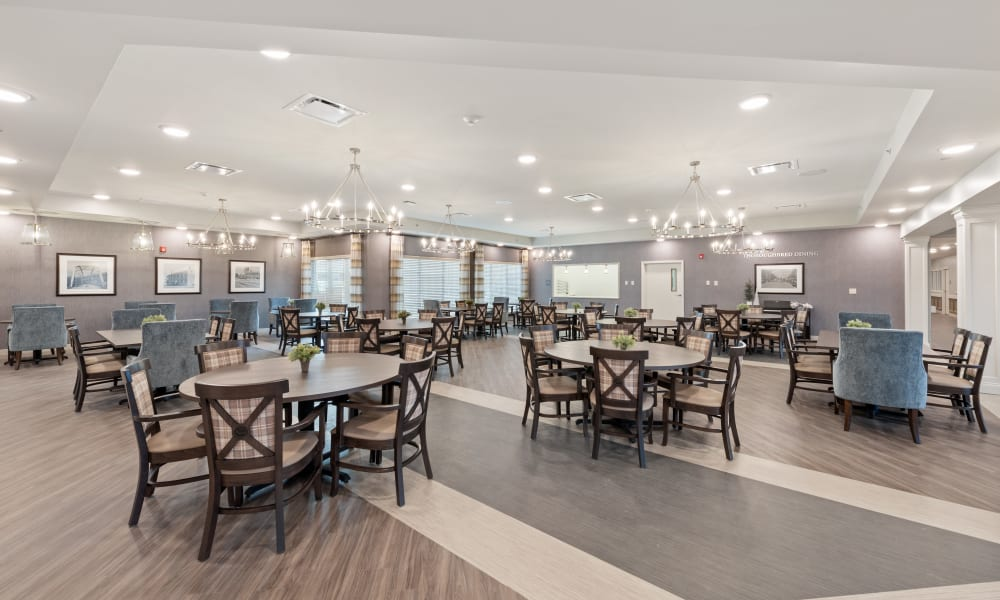 Dining room at Trilogy Health Services - Owensboro in Owensboro, Kentucky