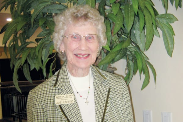 Jane Jennings at Willow Creek Gracious Retirement Living in Chesapeake, Virginia